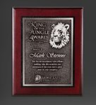 Cherry Finished Panel and Silver Tone Plate Recognition Plaques