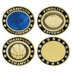 Bright Round Championship Charm Bezels Rings