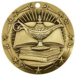 World Class Medal -Book & Lamp Scholastic Trophy Awards