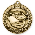 Wreath Medal -Book & Lamp Scholastic Trophy Awards