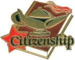 Citizenship Pin Scholastic Trophy Awards