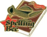 Spelling Bee Pin Scholastic Trophy Awards