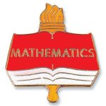 Mathematics Lapel Pin Scholastic Trophy Awards