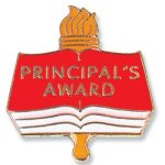 Principal's Award Lapel Pin Scholastic Trophy Awards