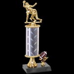 Double Action Trophy -Football Single Column Trophies