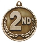 High Relief Medal-2nd Place Skiing Trophy Awards
