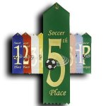Soccer - 5th Place Ribbon Soccer Trophy Awards