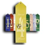 Soccer - 4th Place Ribbon Soccer Trophy Awards