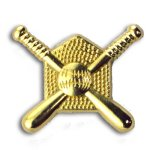 Crossed Bats Chenille Letter Pin Softball Trophy Awards
