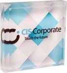 Full Color Acrylic Square Paperweight Square Rectangle Awards
