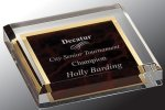 Acrylic Paper Weight Square Rectangle Awards