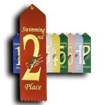 Swimming - 2nd Place Ribbon Swimming Trophy Awards