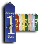 Swimming - 1st Place Ribbon Swimming Trophy Awards