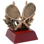 Tennis W/ Racquets Resin Tennis Trophy Awards