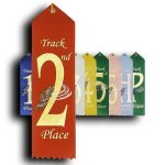 Track - 2nd Place Ribbon Track Trophy Awards