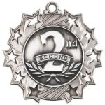 Ten Star Medal -2nd Place  Volleyball Trophy Awards