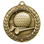 Wreath Award Medallion -Golf Wreath Medal Awards