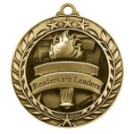 Wreath Award Medallion -Readers Are Leaders Wreath Medal Awards