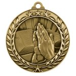 Wreath Award Medallion -Religion Wreath Medal Awards