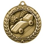 Wreath Award Medallion -Pinewood Derby Wreath Medal Awards